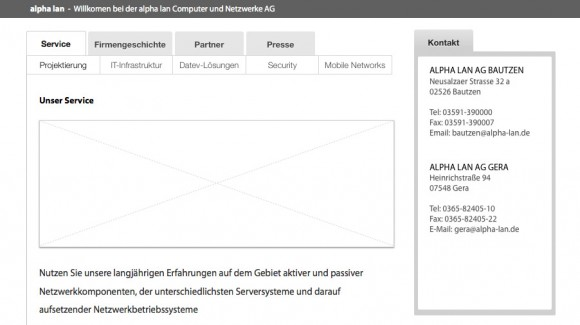 Wireframes for the site